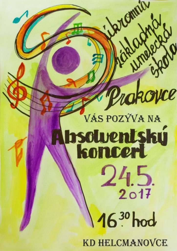 Absolventský koncert – pozvánka – Súkromná základná umelecká škola v  Prakovciach c18b6e593d2